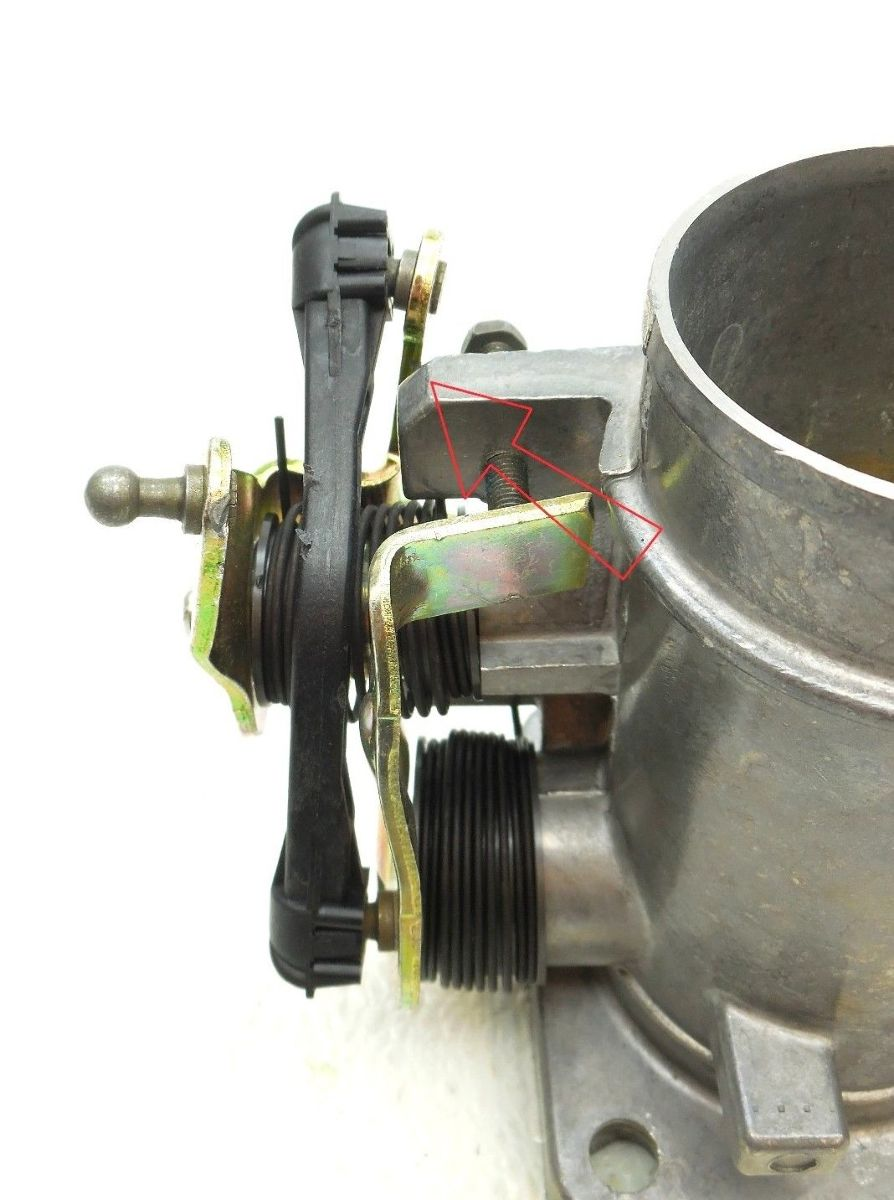 New Oem Throttle Body 1993 1996 Ford E350 Van 7 5l With