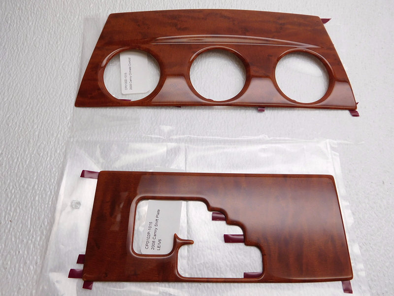 new oem toyota camry wood grain dash kit applique 11 piece pts02 33081 ebay. Black Bedroom Furniture Sets. Home Design Ideas