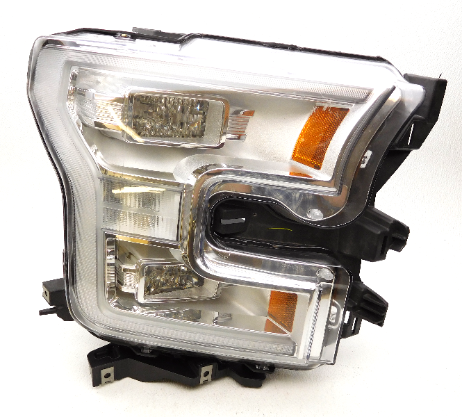 oem 2015 2016 ford f 150 right chrome led headlight head lamp tab gone ebay. Black Bedroom Furniture Sets. Home Design Ideas