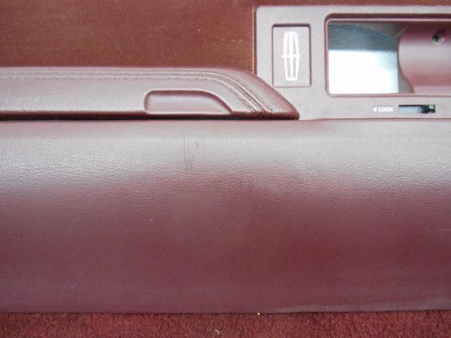 nos new genuine oem 1994 lincoln town car left red interior door trim panel card. Black Bedroom Furniture Sets. Home Design Ideas
