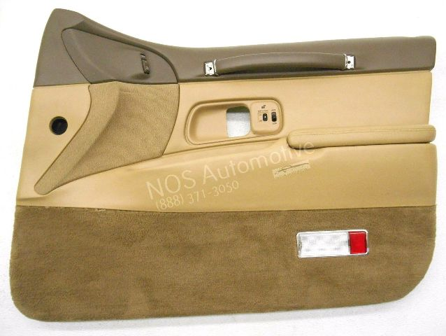Nos new oem 1997 lincoln town car right brown interior - Lincoln town car interior door parts ...
