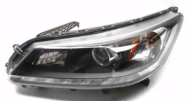 OEM Honda Accord EX-L Sedan Left Halogen W/ LED Headlight ...