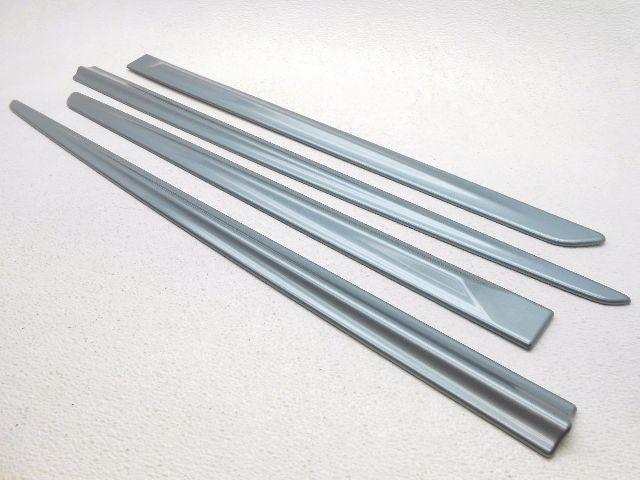 New OEM Honda Fit Exterior Side Door Moulding Trim Kit 2009 2012 Celestial  Blue