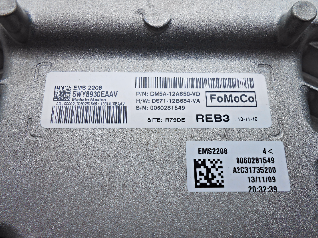 How To Read Ford Vin Number >> New OEM 2013 Ford C-Max Energi Plug-In ECM Module ...