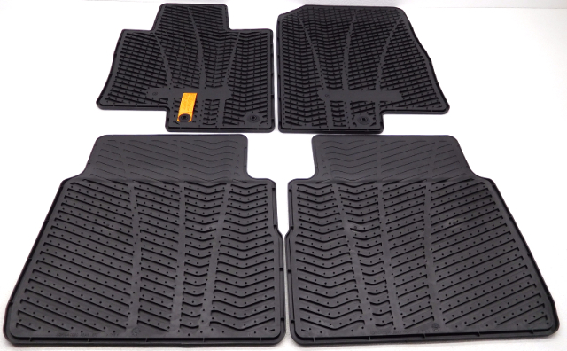 new oem 2010 2014 hyundai sonata complete floor mat set black all weather rubber alpha automotive. Black Bedroom Furniture Sets. Home Design Ideas