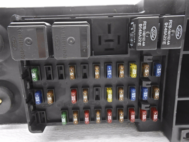 new old stock ford f150 f250 cabin fuse box cover and relays new old stock ford f150 f250 cabin fuse box cover and relays