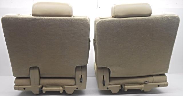 oem chevrolet tahoe yukon suburban third row seat lh and rh leather tan ebay. Black Bedroom Furniture Sets. Home Design Ideas