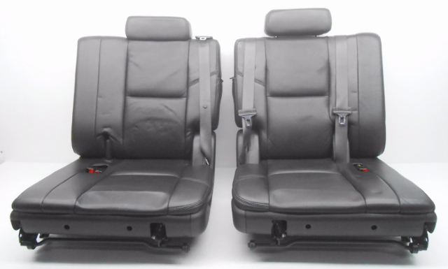 oem cadillac escalade 3rd third row seat seats black leather w seat belts alpha automotive. Black Bedroom Furniture Sets. Home Design Ideas
