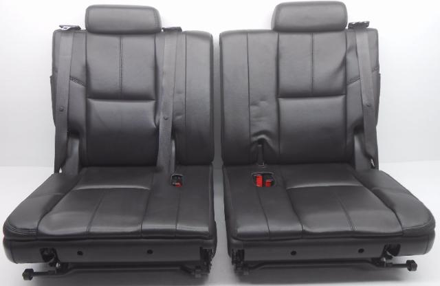 oem chevrolet tahoe yukon suburban third row seat lh and rh leather black alpha automotive. Black Bedroom Furniture Sets. Home Design Ideas