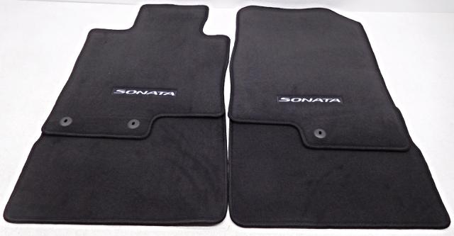 oem hyundai sonata 4 piece floor mat set black 3qf14 ac200 ry alpha automotive. Black Bedroom Furniture Sets. Home Design Ideas