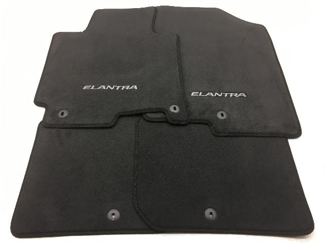 OEM Hyundai Elantra Sedan 4-Piece Floor Mat Black 3XF14-AC300