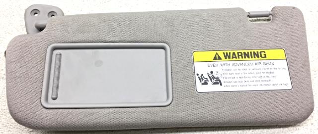 OEM Hyundai Santa Fe Left Driver Side Sun Visor 85210-0W120TX gray