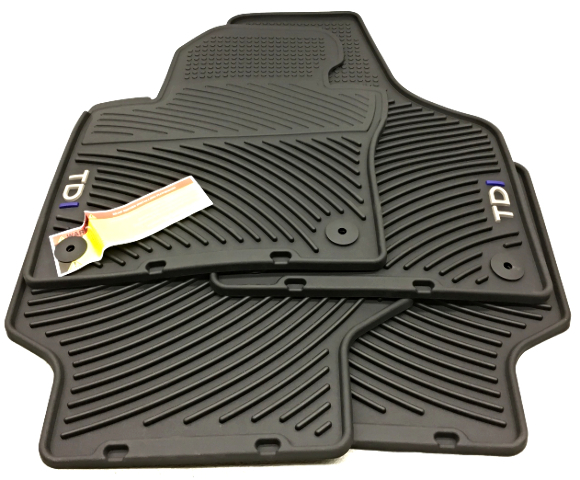 OEM Volkswagen Jetta TDI Sedan Floor Mat Set 5C7-061-550-C-041 Black