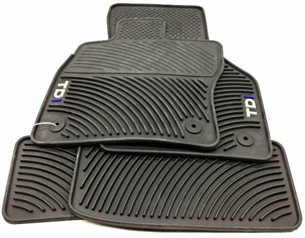OEM Volkswagen Golf TDI Floor Mat Set 5G1-061-550-A-041 Black All-Weather