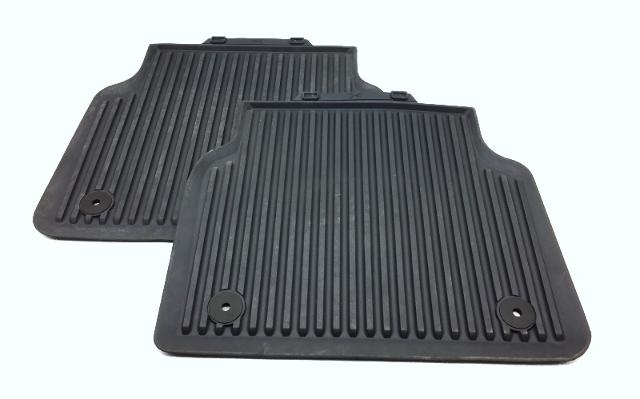 OEM Audi A8 Rear Rubber Floor Mats Dark Gray 4H0-061-511-AY2