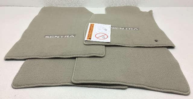 OEM Nissan Sentra 4 Piece Floor Mat Set 999E2-LZ001 Gray