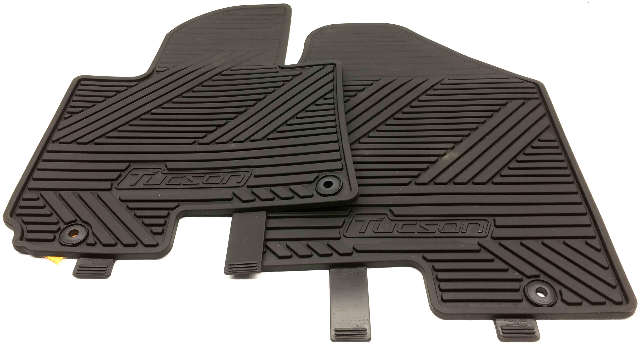 OEM Hyundai Tucson 4 Piece Floor Mat Set 2SF13-AC100 Black Rubber