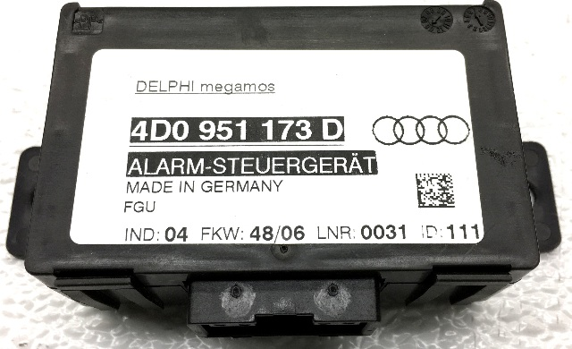 OEM Audi A8 Theft-Locking Control Module 4D0-951-173-D