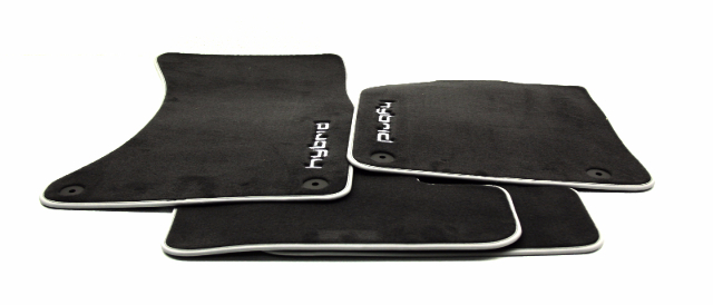 OEM 2013-17 Audi Q5 Hybrid 4 Piece Carpet Floor Mats Black 8R1-061-271-MNO