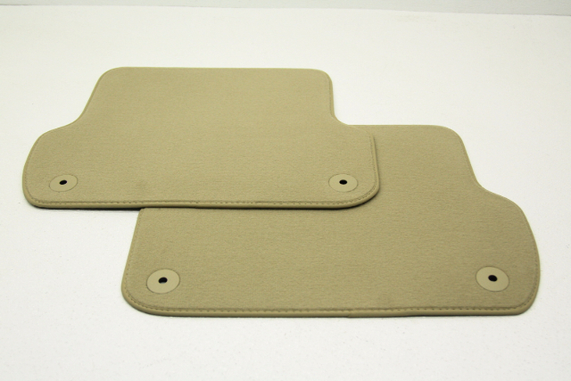 New Old Stock OEM Audi A4 Torrone Beige Rear Floor Mats 8E0 864 450 A 9BA