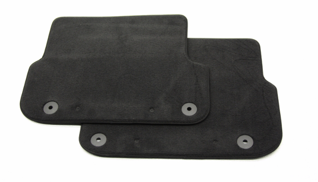New Old Stock OEM Audi A6 Rear Left/Right Floor Mat Set Black 4F0 061 326 E 9AM