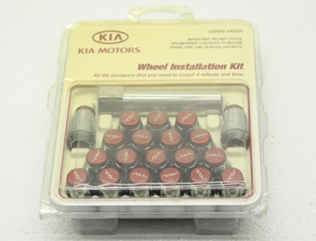 OEM Kia Soul Wheel Lug Kit U8440-2K000 20 Lugs Red
