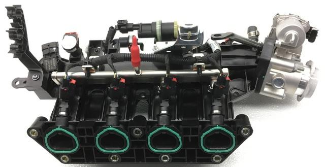 OEM Fiat 500L Intake Manifold w/ Fuel Rail w/ Throttle Body 4861775AD