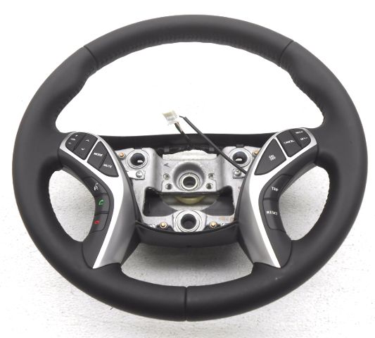 OEM Hyundai Elantra Coupe Black Leather Steering Wheel 56110-3X550RY