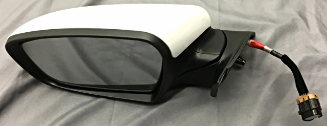 OEM Kia Forte Driver Left Side View Mirror 87610-A7210 White