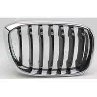 OEM BMW X3 Right Passenger Side Grille Insert Chrome & Black Scratches