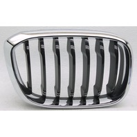 OEM BMW X3 Right Passenger Side Grille Insert Chrome & Black Tab Gone