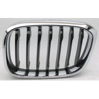 OEM BMW X3 Left Driver Side Grille Insert Chrome & Black Scratches