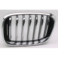 OEM BMW X3 Left Driver Side Grille Insert 51137464919-06 Chrome Scratches