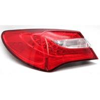 OEM Chrysler 200 Sedan Left Driver Side LED Tail Lamp 518252AE Lens Chip