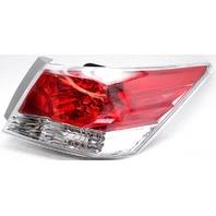 OEM Honda Accord Sedan Right Passenger Side Halogen Tail Lamp Lens Crack