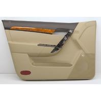 OEM Aveo Front Left Door Trim Panel 96956695 Beige w/Black & Wood Trim