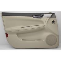 OEM Chevorlet Impala Front Left Door Trim Panel 19121269 Neutral