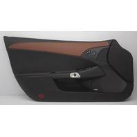 OEM Corvette Front Left Door Trim Panel 25878790 Ebony w/Brick Insert Leather