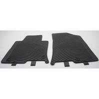 OEM Hyundai Sonata 4-Piece Rubber All Weather Floor Mat Set C1F13-AC400 Black