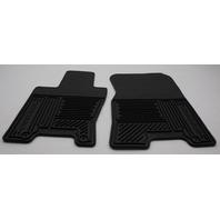 OEM Kia Borrego 4-Piece Rubber All Weather Floor Mat Set U8130-2J000
