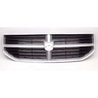 Dodge Caliber 2007-2010 Painted Grille No Emblem Silver W/Red Splatter Marks