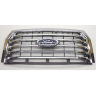 OEM 2015 Ford F150 XLT Front Upper Grille Chrome Finish W/Emblem