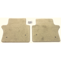 New OEM 2010-2013 Land Rover Range Rover Rear Beige Set Left and Right Mats