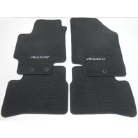 New OEM 2007-2011 Hyundai Accent Hatchback Floor Mat Set - Black/Dark Charcoal