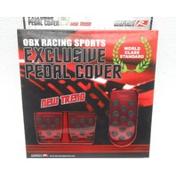 Nice OBX Racing Sport Pedal Cover Kit - Red - Fits 2004-2006 Scion xB/XA