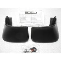 New OEM 2010-2013 Mazda 3 Sedan Rear Splash Guards Mud Guard Black