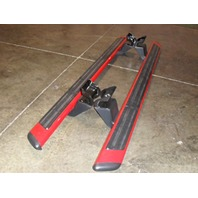 OEM Ford F-150 Extended Cab Tubular Running Board Race Red Left & Right