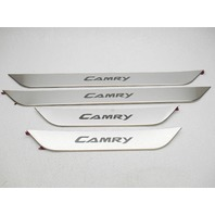 OEM 2007-2011 Toyota Camry Brushed Stainless Door Sill Plate Set