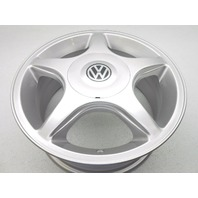 "New Genuine OEM Volkswagen 15"" Wheel Rim With Center Cap - Silver"