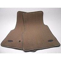 OEM 1998-2002 Ford Crown Victoria Dark Tan Front Floor Mats YL3Z-1513086-DAA